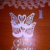 Вырубки для скрапбукинга ручной работы. Ярмарка Мастеров - ручная работа Вырубки для скрапбукинга: свадебные. Handmade.