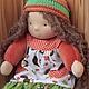 Бельчонок 35 см. Вальдорфская кукла.Julia Solarrain (SolarDolls) Ярмарка Мастеров
