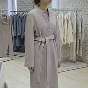 Одежда manualidades. Livemaster - hecho a mano Abrigo directa demisezonnoe over size color beige rosado polvo. Handmade.