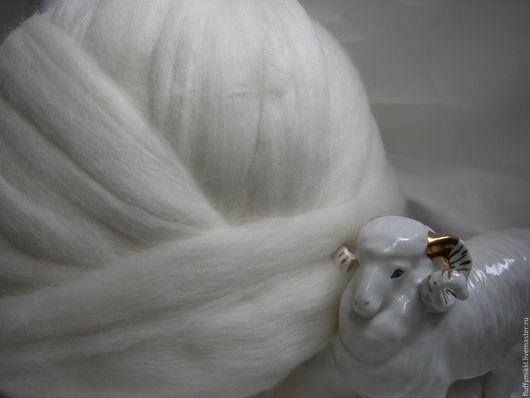 Австралийский меринос топс 21 мкм белый 10 гр - 28 руб. Топс из шерсти австралийского мериноса, 21 микрон. Цвет белый молочный, натуральный неокрашенный цвет.