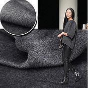Материалы для творчества handmade. Livemaster - original item Fabric for a natural fur coat (Alpaca, wool) grey. Handmade.
