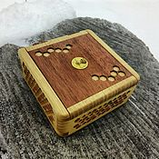 Для дома и интерьера handmade. Livemaster - original item The box is made of acacia and mahogany with a secret