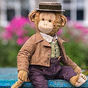 Куклы и игрушки handmade. Livemaster - original item Monkey Nigel, Teddy monkey toy author. Handmade.