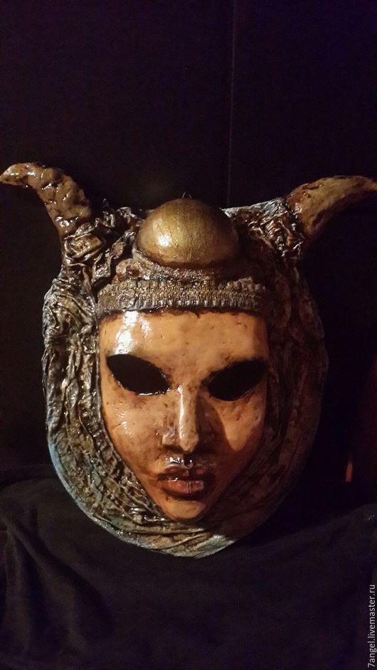 Интерьерные  маски ручной работы. Ярмарка Мастеров - ручная работа. Купить Верховная Жрица Таро (Папесса). Handmade. Разноцветный
