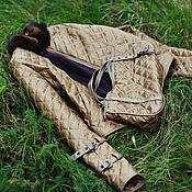 Одежда ручной работы. Ярмарка Мастеров - ручная работа Куртка из стеганной золотой стежки в спортивном стиле. Handmade.