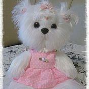 Куклы и игрушки ручной работы. Ярмарка Мастеров - ручная работа Мальтийская болонка Малышка Снежа. Handmade.