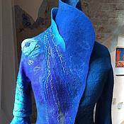 """Одежда ручной работы. Ярмарка Мастеров - ручная работа """"В синем сне"""" Жакет из шёлка и шерсти. Handmade."""