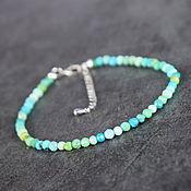 Украшения handmade. Livemaster - original item Natural Tibetan turquoise natural stones turquoise bracelet. Handmade.