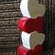 """Подарки для влюбленных ручной работы. Ваза для одного цветка""""Вельветовые сердечки"""". Owl ceramics. Ярмарка Мастеров. Керамика, ангобы"""