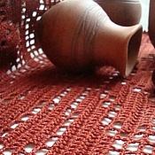"""Для дома и интерьера ручной работы. Ярмарка Мастеров - ручная работа Салфетка-дорожка """"Каштанка"""". Handmade."""