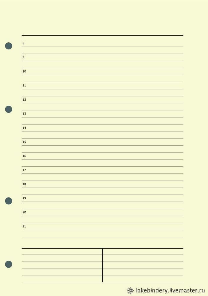 Сменный блок ежедневник без дат А5 для блокнотов на четырёх кольцах, Блокноты, Москва,  Фото №1