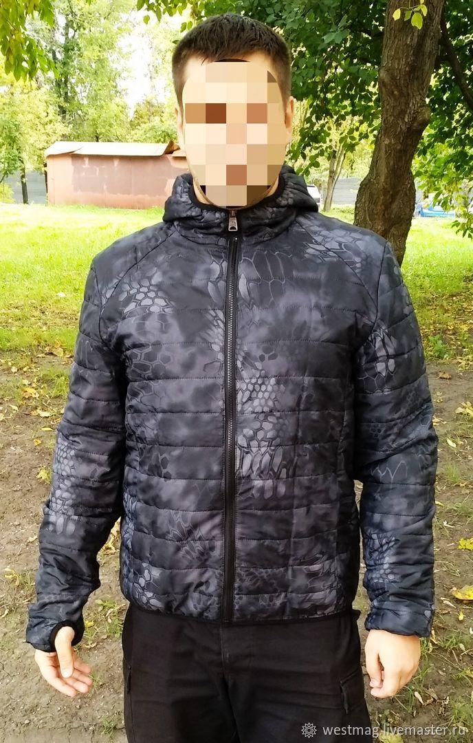 Демисезонная куртка-бомбер Питон Ночь. Ткань: 100% полиэстер микро рип-стоп. Пропитка: Тефлон Инновационный утеплитель: Shelter Micro SLK