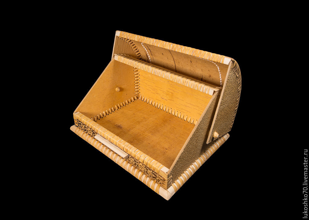 Cat In Bread Box Inspiration Wooden Cat Wooden Bread Bin Shop Online On Livemaster With