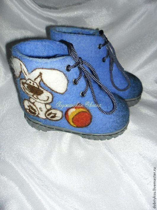 """Обувь ручной работы. Ярмарка Мастеров - ручная работа. Купить Детские валеночки  """"Любимые игрушки"""". Handmade. Тёмно-синий, котенок"""