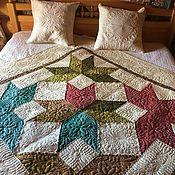Для дома и интерьера handmade. Livemaster - original item Bedspreads: quilted small bedspread Bright star.. Handmade.