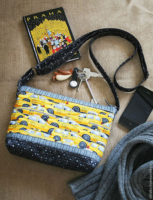 """Женские сумки ручной работы. Ярмарка Мастеров - ручная работа. Купить Сумка """"Желтое такси"""". Handmade. Разноцветный, маленькая сумка"""