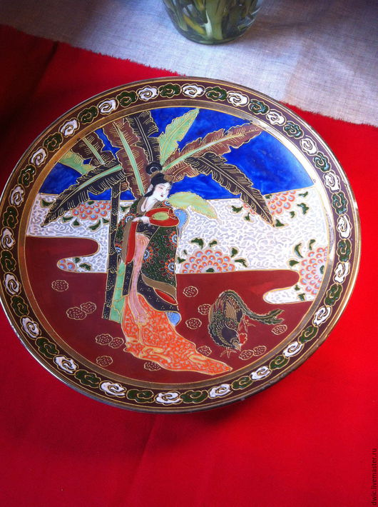 Винтажная посуда. Ярмарка Мастеров - ручная работа. Купить Тарелка декоративная  фарфоровая (Китай). Handmade. Тарелка декоративная, антиквариат