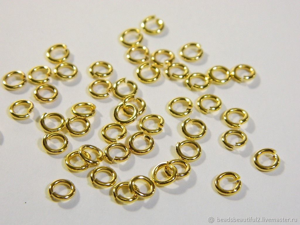 Connecting rings 6 mm 50 PCs, Accessories for jewelry, Saratov,  Фото №1