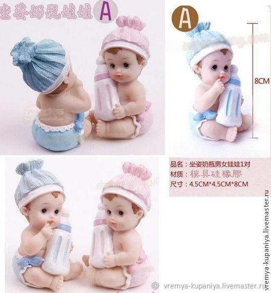 """Силиконовая форма для мыла """"Малыш с бутылочкой"""", Формы, Владивосток, Фото №1"""