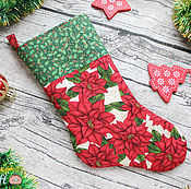 Подарки к праздникам ручной работы. Ярмарка Мастеров - ручная работа Носочек для подарков (Новый год, Рождество). Handmade.