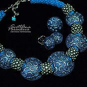 Украшения handmade. Livemaster - original item Set of polymer clay shades of blue (561). Handmade.