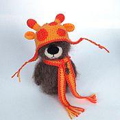 Куклы и игрушки ручной работы. Ярмарка Мастеров - ручная работа Мишка Егорка (Вязаный мишка, пушистики, игрушка ). Handmade.