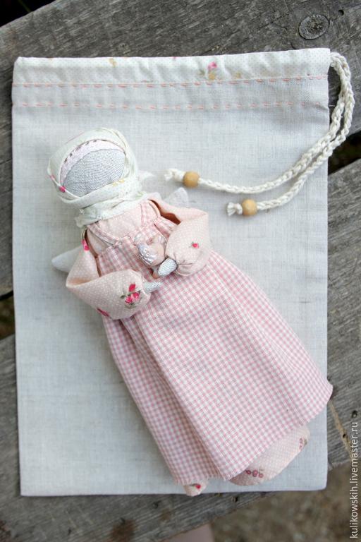 Народные куклы ручной работы. Ярмарка Мастеров - ручная работа. Купить Кукла Ангел с птичкой. Handmade. Кремовый, народная кукла