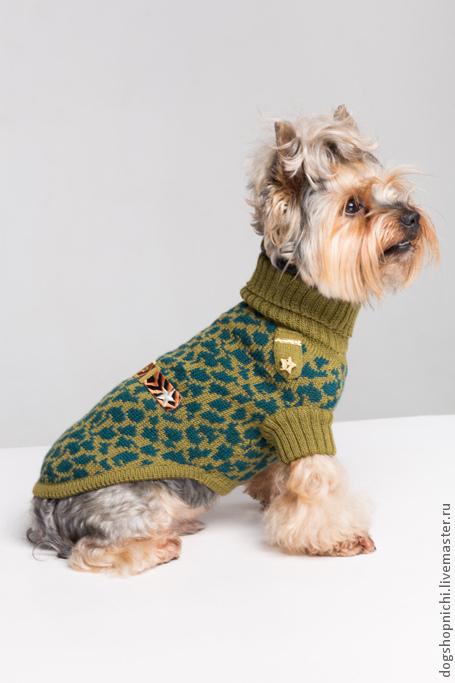 Одежда для собак, ручной работы. Ярмарка Мастеров - ручная работа. Купить Свитер для собак Military авторская работа. Handmade.
