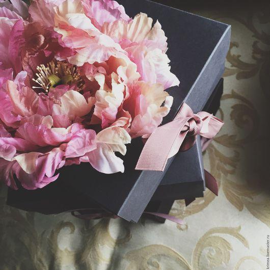 Броши ручной работы. Ярмарка Мастеров - ручная работа. Купить Цветы из шелка. Пион  Корадо. Цветы из ткани. Handmade.