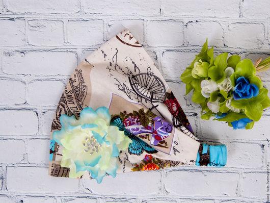Шапки и шарфы ручной работы. Ярмарка Мастеров - ручная работа. Купить Бандана-косынка для девочки Laura. Handmade. Комбинированный, рисунок