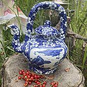 Винтаж handmade. Livemaster - original item Tea with currants. Stylish teapot-teapot. China.. Handmade.