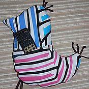Для дома и интерьера ручной работы. Ярмарка Мастеров - ручная работа Подушка-игрушка Радужная птичка с карманом. Handmade.