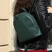 Сумки и аксессуары handmade. Livemaster - original item Backpack small emerald genuine leather. Handmade.