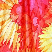 """Аксессуары ручной работы. Ярмарка Мастеров - ручная работа Батик платок """"Tequila Sunrise"""". Handmade."""