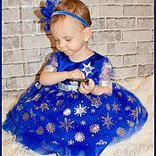 Работы для детей, ручной работы. Ярмарка Мастеров - ручная работа Новогоднее платье Снежная королева. Handmade.
