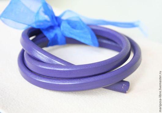 Для украшений ручной работы. Ярмарка Мастеров - ручная работа. Купить Шнур 10х6,5 кожаный, фиолетовый. Handmade. Фиолетовый