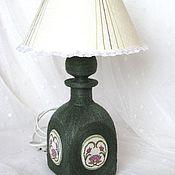 Для дома и интерьера ручной работы. Ярмарка Мастеров - ручная работа Лампа-ночник настольная с медальонами. Handmade.