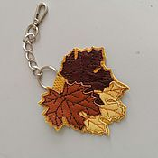 Сумки и аксессуары handmade. Livemaster - original item Pendant.Leather keychain. suspension bag. Pendant from the skin. Leaves. Handmade.