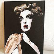 """Картины и панно ручной работы. Ярмарка Мастеров - ручная работа My Frau из серии """"Covergirl"""". Handmade."""
