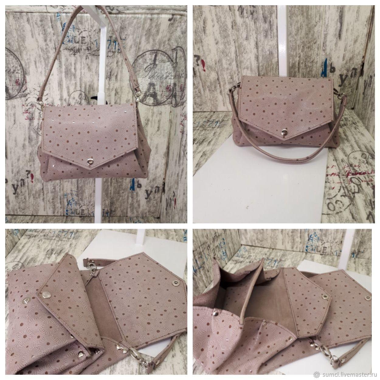 Leather clutch bag art48, Clutches, Zvenigorod,  Фото №1