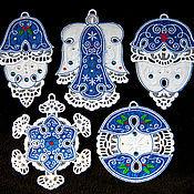 Подарки к праздникам handmade. Livemaster - original item Lazur. A set of Christmas ornaments.. Handmade.