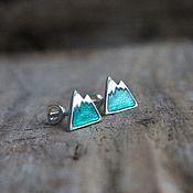 Украшения handmade. Livemaster - original item Mountains, Posey earrings made of silver with enamel. Handmade.