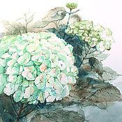 Картины и панно ручной работы. Ярмарка Мастеров - ручная работа Гортензия. Handmade.