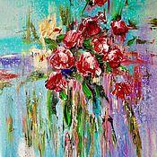 Картины ручной работы. Ярмарка Мастеров - ручная работа Абстракция. Розы. Handmade.