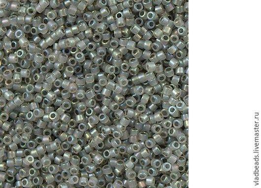 Для украшений ручной работы. Ярмарка Мастеров - ручная работа. Купить Бисер delica 1770 Sparkling Pewter Lined Opal AB. Handmade.