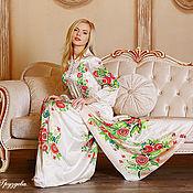 Одежда ручной работы. Ярмарка Мастеров - ручная работа Благородный образ, натуральный шелк+ручная роспись. Handmade.