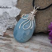 Украшения handmade. Livemaster - original item Pendant from silver and aquamarine. Handmade.