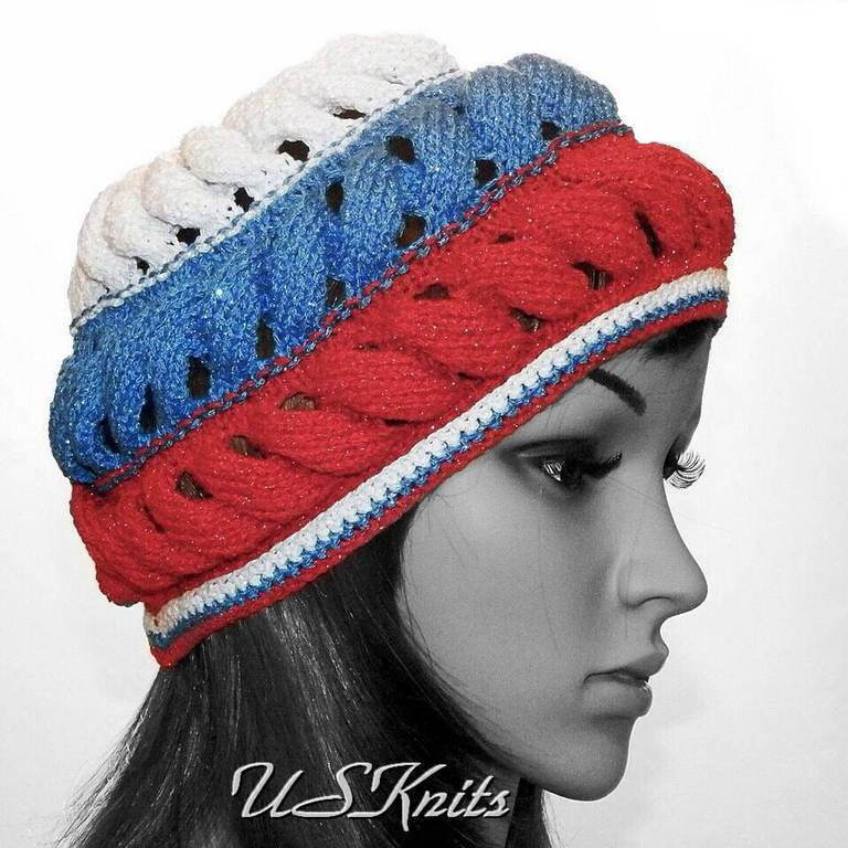 Spring-summer takes the colors of Russia, ispolnenie from another composition of the yarn.