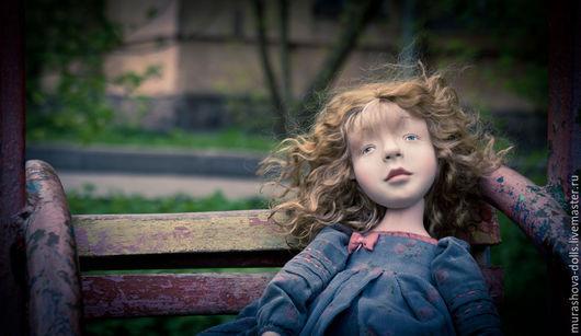 Коллекционные куклы ручной работы. Ярмарка Мастеров - ручная работа. Купить Пасмурная. Handmade. Голубой, трессы