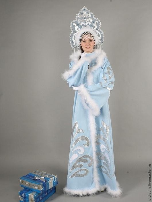 """Карнавальные костюмы ручной работы. Ярмарка Мастеров - ручная работа. Купить Костюм Снегурочки """" Сказочный"""" голубой. Handmade."""